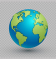3d world map globe vector image vector image