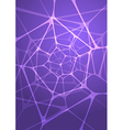 Abstract glowing indigo background vector image