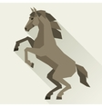 Background with horse standing in flat style vector image vector image