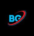 bg b g letter logo design initial letter bg vector image vector image