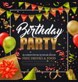birthday party poster vector image vector image