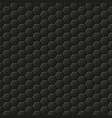 black background with hexagons honeycomb pattern vector image