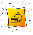black fast payments icon isolated on white vector image vector image