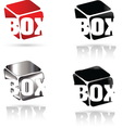 Box 02 resize vector image vector image