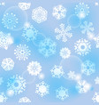 bright blue seamless background with snowflakes vector image vector image