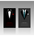card of the businessman vector image vector image
