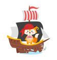 character in pirate costume vector image vector image