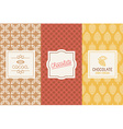 Chocolate and cocoa packaging vector image vector image