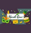 colorful of celebrating the mardi vector image