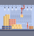concept warehouse storage interior vector image