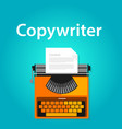 copywriter jobs typing machine typewriter office vector image vector image