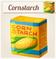 Cornstarch Detailed Icon vector image vector image