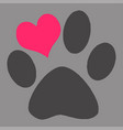 creative pet s paw vector image