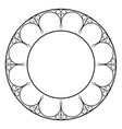 decorative round frame vector image vector image