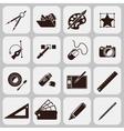 Designer Tools Black Icons vector image