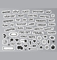 drawing bullet journal stickers vector image vector image