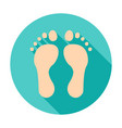 feet circle icon vector image