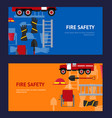 firefighter profession equipment and tools vector image vector image