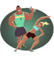Fitness instructor and personal trainer vector image vector image