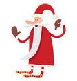 funny santa claus character cartoon vector image vector image