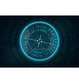 futuristic gadget in hud style vector image vector image