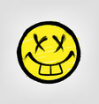 graffiti emoticon smiling face painted spray vector image
