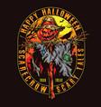 happy halloween colorful vintage design vector image