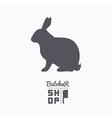 Hare silhouette Rabbit meat Butcher shop logo vector image vector image