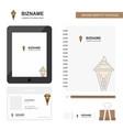 ice cream business logo tab app diary pvc vector image vector image