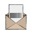 isolated paper envelope vector image