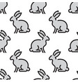 kids seamless pattern rabbit vector image