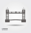 london bridge logo attraction of the capital of vector image vector image