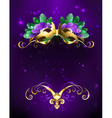 Mardi Gras Mask of Bright Feathers vector image vector image