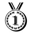 medal icon simple black style vector image vector image