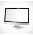 modern computer with white display vector image vector image
