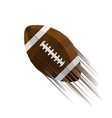 modern sport icon of american football ball vector image vector image