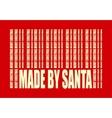 New Year and Christmas card Made by Santa vector image