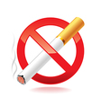 no smoking isolated vector image vector image