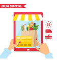 online shopping e-commerce concept vector image vector image