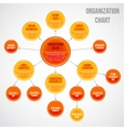 Organizational chart infographic vector image vector image