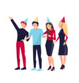 partying people on white vector image vector image