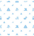 pool icons pattern seamless white background vector image vector image