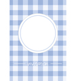 Retro blue vintage card or invitation with checker vector image