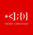 santa claus smiley christmas card vector image