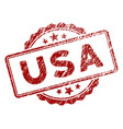 scratched textured usa text stamp seal vector image