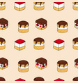seamless pattern of cakes vector image vector image