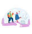 senior married couple dancing sparetime elderly vector image