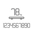 set numbers weight smart scales vector image