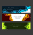 set of horizontal banners templates vector image vector image