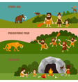 Stone Age Horizontal Banners vector image vector image